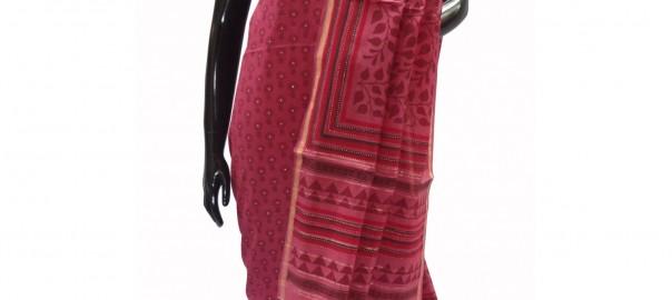 Printed suit in Maheshwari cotton