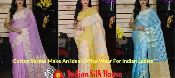 Cotton Sarees Make An Ideal Office Wear For Indian Ladies