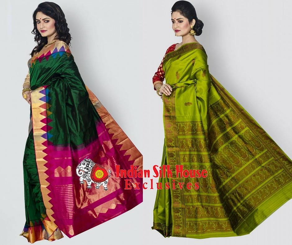 Green silk sarees
