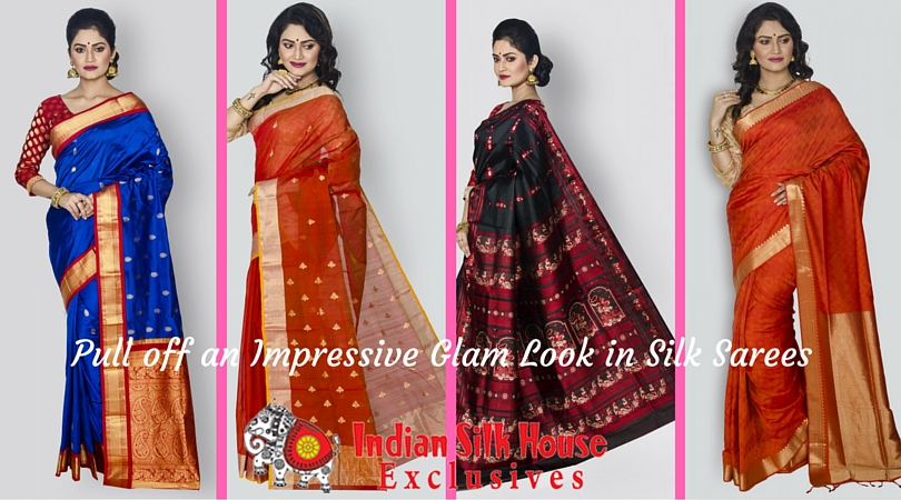 Pull off an Impressive Glam Look in Silk Sarees