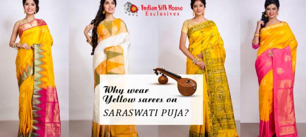 Indian Silk House Exclusives yellow sarees