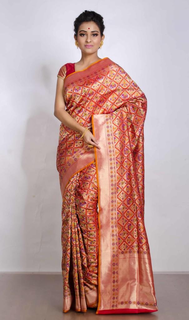 Patola Design Saree