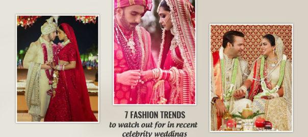 Fashion trends of celebrity weddings